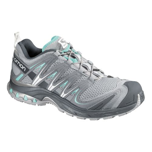 Womens Salomon XA Pro 3D Trail Running Shoe - Grey/Light Blue 7.5