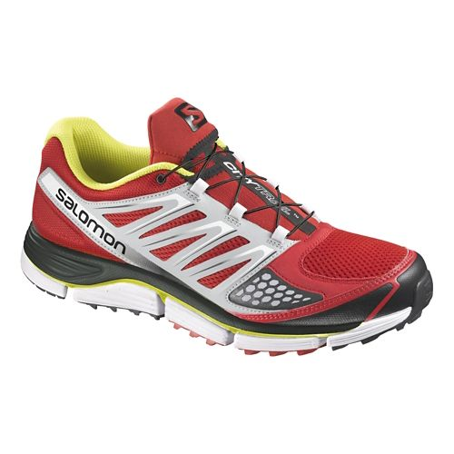 Mens Salomon X-Wind Pro Trail Running Shoe - Red/White 9.5