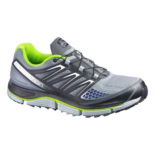 Mens Salomon X-Wind Pro Trail Running Shoe - Grey/Black 12