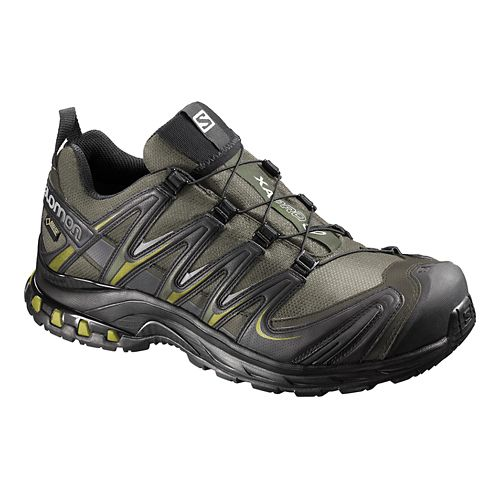 Mens Salomon XA Pro 3D GTX Trail Running Shoe - Iguana Green 8