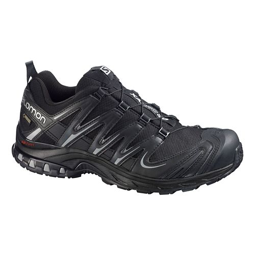 Mens Salomon XA Pro 3D GTX Trail Running Shoe - Black/Black 13