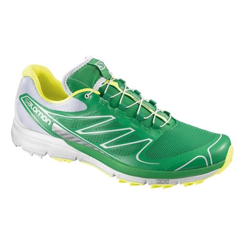Mens Salomon Sense Pro Trail Running Shoe - Green/White 12.5