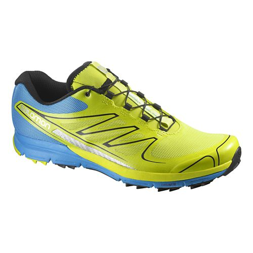 Mens Salomon Sense Pro Trail Running Shoe - Green/Blue 8.5