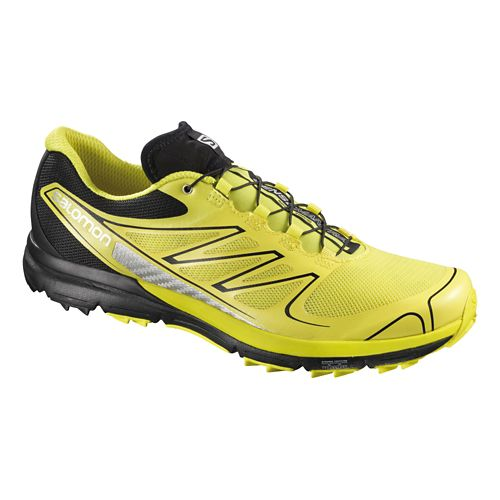 Mens Salomon Sense Pro Trail Running Shoe - Yellow/Black 14