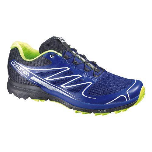 Mens Salomon Sense Pro Trail Running Shoe - Blue/Black 11.5