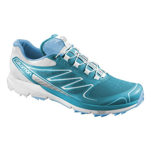 Womens Salomon Sense Pro Trail Running Shoe - Blue/White 10