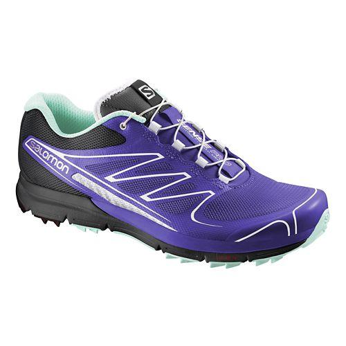 Womens Salomon Sense Pro Trail Running Shoe - Blue/Black 8.5