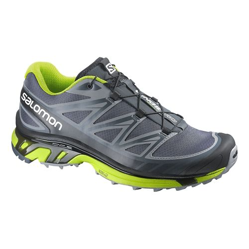 Mens Salomon Wings Pro Trail Running Shoe - Grey/Green 11.5