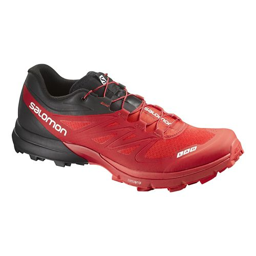 Salomon S-Lab Sense 4 Ultra SG Trail Running Shoe - Red/Black 6