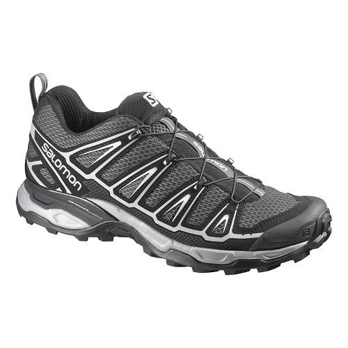 Mens Salomon X-Ultra 2 Hiking Shoe - Black/Steel Grey 8