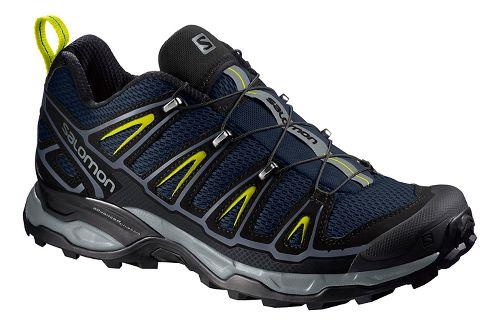 Mens Salomon X-Ultra 2 Hiking Shoe - Navy/Yellow 10.5