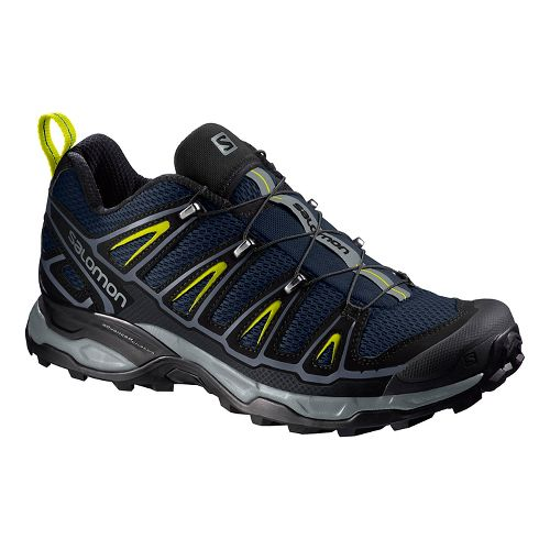 Mens Salomon X-Ultra 2 Hiking Shoe - Navy/Yellow 9.5