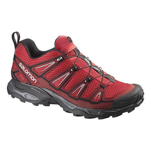 Mens Salomon X-Ultra 2 Hiking Shoe - Red/Black 10.5