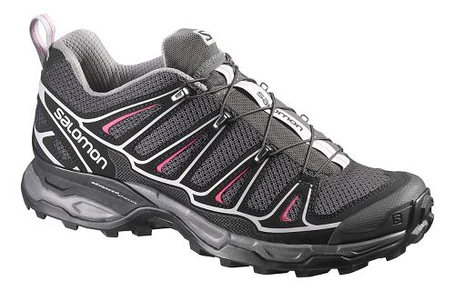 Womens Salomon X-Ultra 2 Hiking Shoe - Black/Pink 9.5