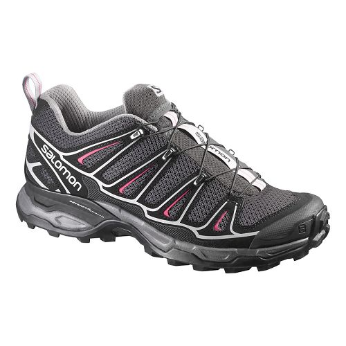 Womens Salomon X-Ultra 2 Hiking Shoe - Black/Pink 5