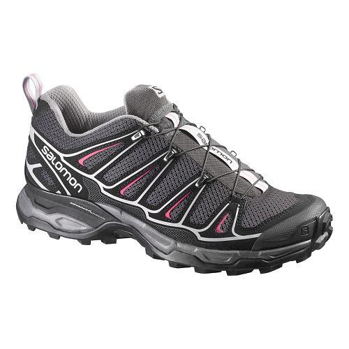 Womens Salomon X-Ultra 2 Hiking Shoe - Black/Pink 8