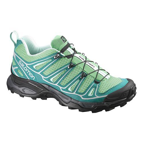 Womens Salomon X-Ultra 2 Hiking Shoe - Green/Blue 10
