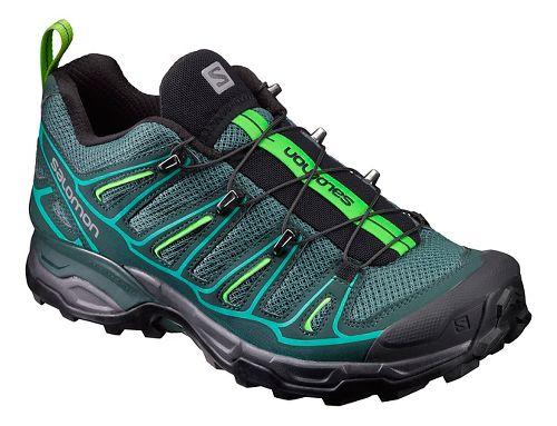 Womens Salomon X-Ultra 2 Hiking Shoe - Olive/Green 5