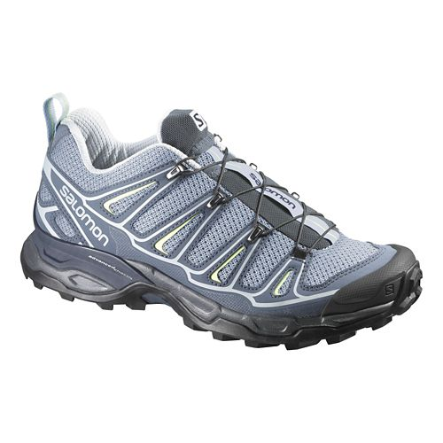 Womens Salomon X-Ultra 2 Hiking Shoe - Light Blue/Grey 9.5