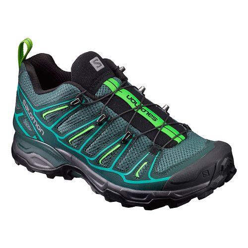 Womens Salomon X-Ultra 2 Hiking Shoe - Green/Blue 7.5