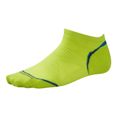 Smartwool PhD Run Ultra Light Micro Socks - Green/Turquoise M