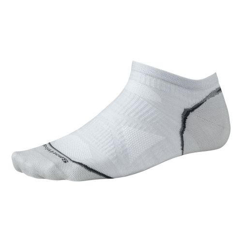Smartwool PhD Run Ultra Light Micro Socks - Silver M