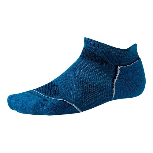 Smartwool PhD Run Light Micro Socks - Arctic Blue L