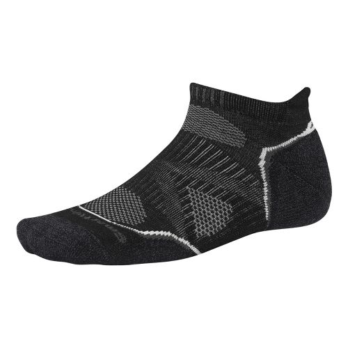 Smartwool PhD Run Light Micro Socks - Black/White L