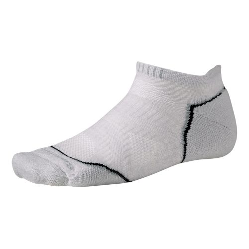 Smartwool PhD Run Light Micro Socks - Silver M