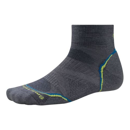 Smartwool PhD Run Light Mini Socks - Graphite/Green L