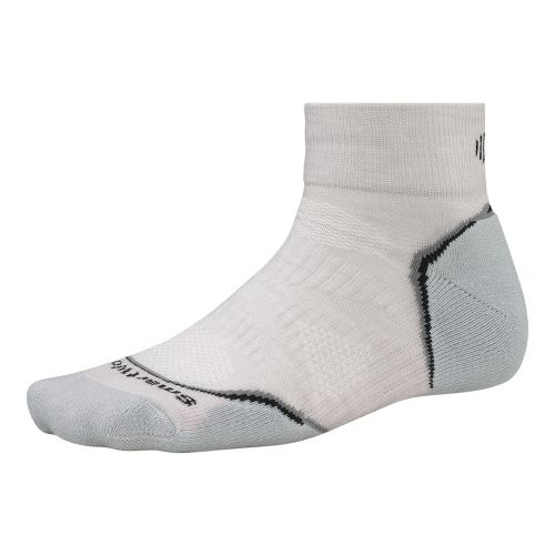 Smartwool PhD Run Light Mini Socks - Silver/Black L