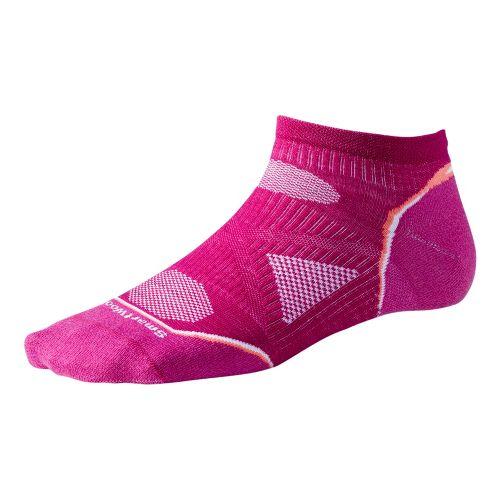Womens Smartwool PhD Run Ultra Light Micro Socks - Berry M
