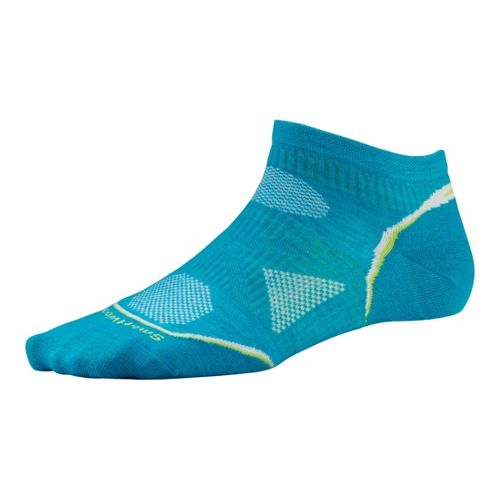 Womens Smartwool PhD Run Ultra Light Micro Socks - Capri S