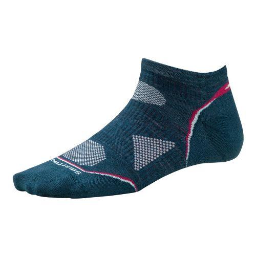 Womens Smartwool PhD Run Ultra Light Micro Socks - Deep Sea M