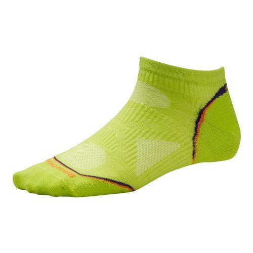 Womens Smartwool PhD Run Ultra Light Micro Socks - Green S