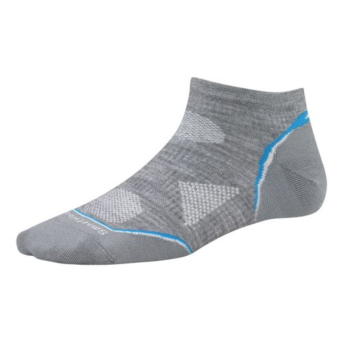 Womens Smartwool PhD Run Ultra Light Micro Socks - Grey M