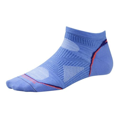 Womens Smartwool PhD Run Ultra Light Micro Socks - Purple M
