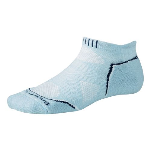 Womens Smartwool PhD Run Light Micro Socks - Blue Print L