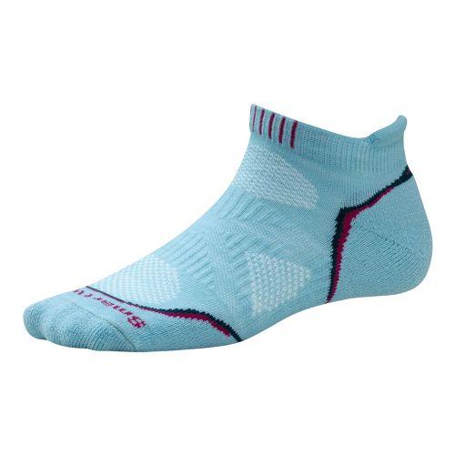 Womens Smartwool PhD Run Light Micro Socks - Clearwater M