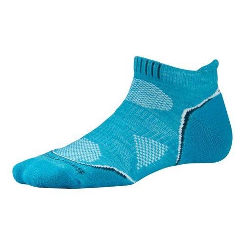 Womens Smartwool PhD Run Light Micro Socks - Capri S