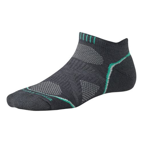 Womens Smartwool PhD Run Light Micro Socks - Graphite L