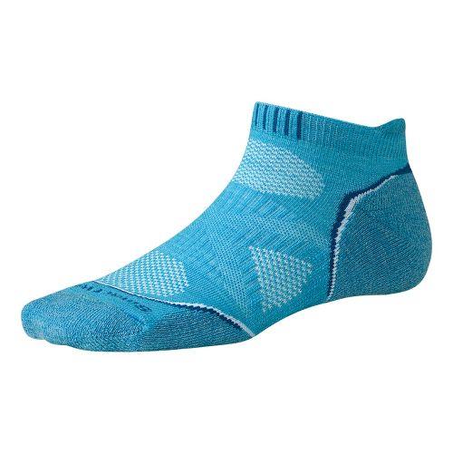 Womens Smartwool PhD Run Light Micro Socks - Horizon Blue M