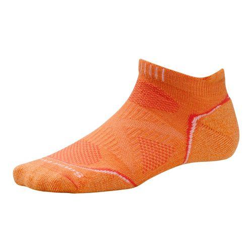 Womens Smartwool PhD Run Light Micro Socks - Nectarine S