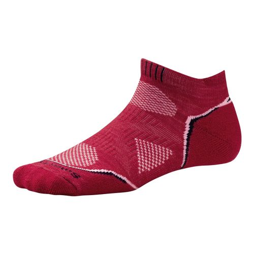 Womens Smartwool PhD Run Light Micro Socks - Persian Red S