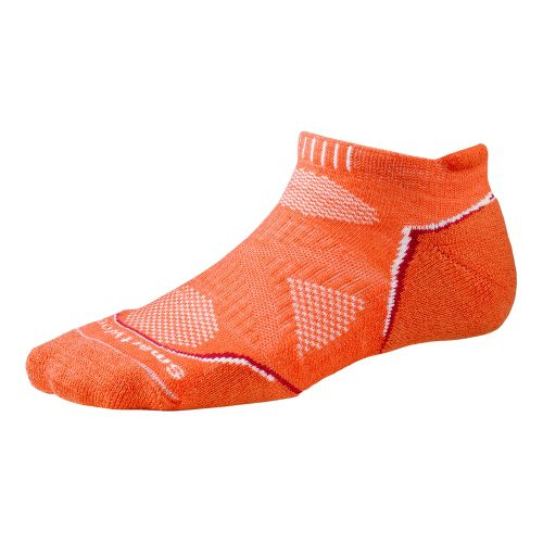 Womens Smartwool PhD Run Light Micro Socks - Poppy L