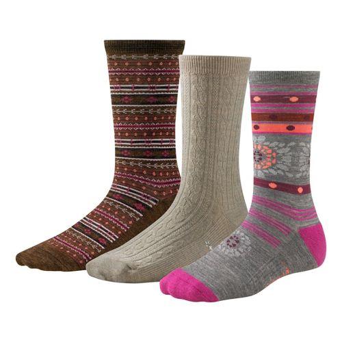 Womens Smartwool Ultra Comfy Trio Socks - Oatmeal M