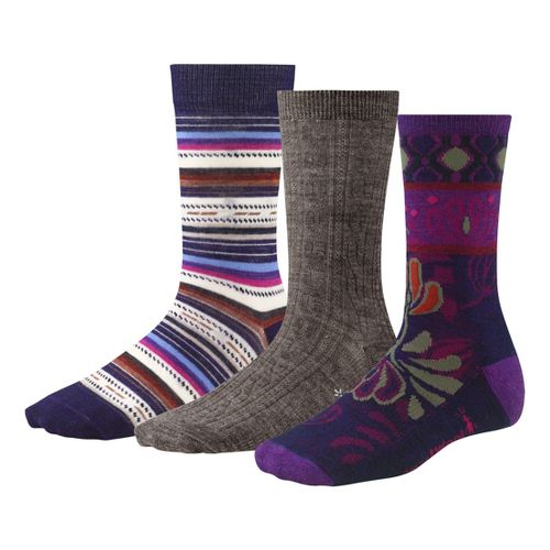 Womens Smartwool Ultra Comfy Trio Socks - Purple M