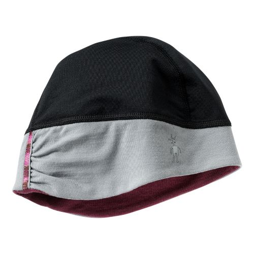 Womens Smartwool PhD HyFi Training Beanie Headwear - Black/Wine