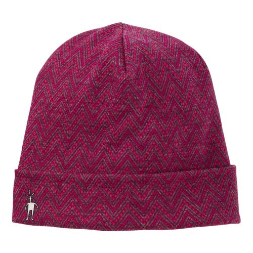 Smartwool Reversible Pattern Cuffed Beanie Headwear - Berry