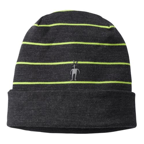 Smartwool Reversible Pattern Cuffed Beanie Headwear - Charcoal Heather